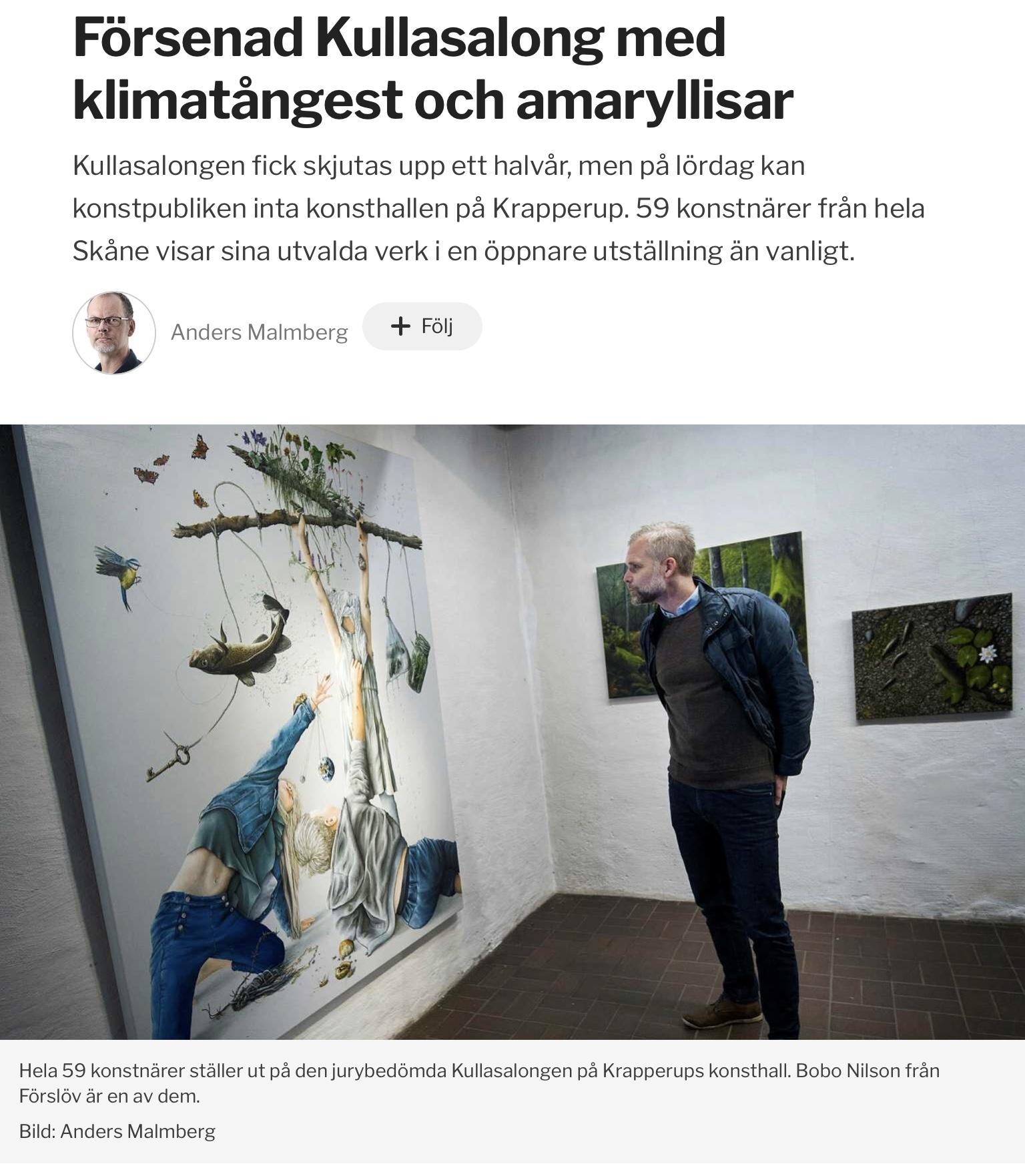 Artikel i Helsingborgs Dagblad